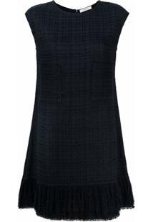 Charlott Tweed Fringe Dress - Preto