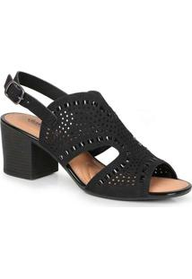 Sandália Salto Feminina Conforto Dakota Laser Pret