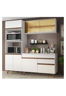 Cozinha Compacta Madesa Reims 190002 Com Armário E Balcão Branco Branco