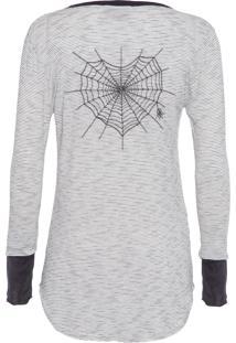 Camiseta Feminina Monaco - Preto E Off White