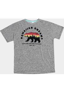 Camiseta Hd Plus Size Weather Bear Masculina - Masculino-Mescla