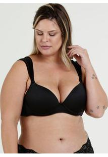 Sutiã Feminino Com Base Recorte Tule Plus Size Marisa