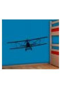 Adesivo De Parede Aviãozinho Teco Teco De Frente - M 34X98Cm