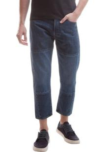 Jeans Pieced Bow Crop Altered - 36