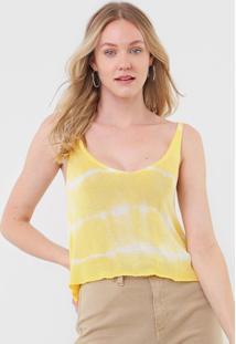 Regata Tricot Dress To Tie Dye Amarelo