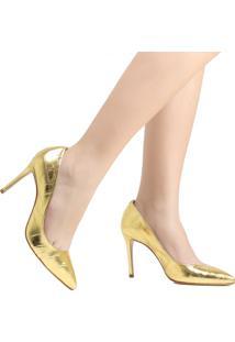 Sapato Scarpin Schutz Bico Fino Amarelo