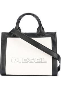 Diesel Bolsa Tote Color Block Com Logo - Neutro