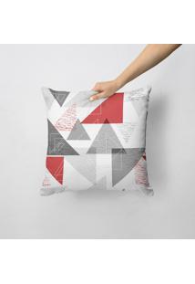Capa De Almofada Avulsa Decorativa Triângulos Abstratos