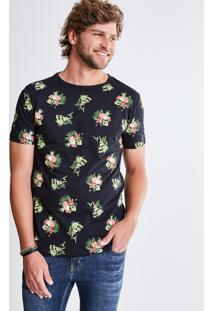 Camiseta Estampada Caveira Floral