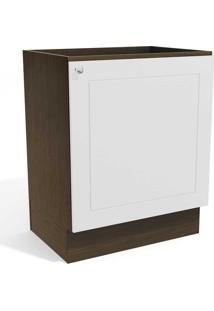 Balcão De Cozinha Provenzza 1 Porta G604 Jacaranda/Branco - Kappesberg