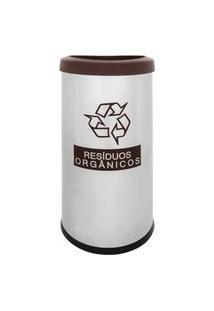Lixeira Seletiva Recycling Orgânico 40,5 L - Brinox