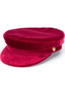 Manokhi Chapéu De Veludo - Vermelho