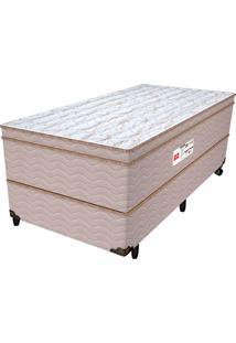 Cama Box Solteiro Shinning - Pelmex - Branco / Marrom / Marfim