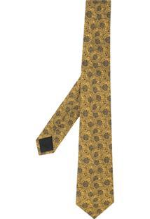 Versace Gravata De Seda Estampada - Amarelo