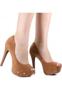 Sapato De Noivas Zariff Shoes Peep Toe Salto Alto