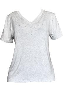 Tshirt Cz Brand Malha Mescla Pérolas