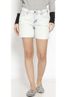 Bermuda Jeans Com Bolsos - Azul Claro- M. Officerm. Officer