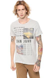 Camiseta John John Rising Cinza