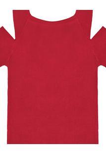 Blusa Tricô Abertura Ombros Vermelho Natty - Lez A Lez