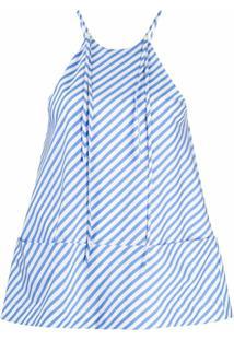 Jejia Blusa Com Listras E Recorte Vazado Nos Ombros - Branco
