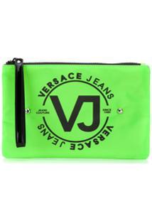 Versace Jeans Necessaire Com Logo - Verde