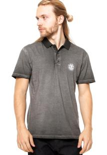 Camisa Polo Manga Curta Element Deep Cinza