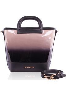 Bolsa Bucket Bag Campezzo Verniz Degrad㪠- Preto - Feminino - Dafiti