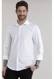 Camisa Slim Em Algodão + Sustentável Branca