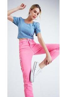 Calça Jeans Zait Reta Neon - Feminino