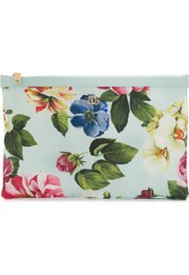 Dolce & Gabbana Clutch Com Estampa Floral - Azul