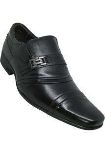Sapato Social Calprado Napa Vegetal Masculino - Masculino-Preto