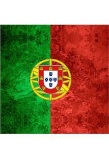 Quadro Impressão Digital Bandeira De Portugal 45X45