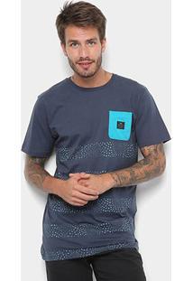 Camiseta Rusty Esp Combust Masculina - Masculino-Marinho