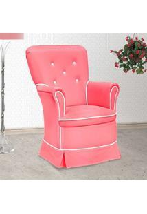Poltrona Amamentação Sofia Fixa Rosa E Branca - Confortável