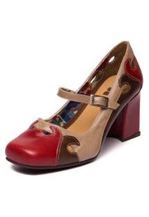 Sapato Sophia - 5939 Amora/Chocolate/Taupe