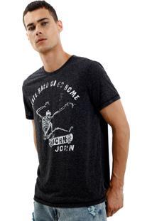 Camiseta John John Rx Go Home Skater Malha Cinza Masculina Tshirt Rx Go Home Skater-Cinza Chumbo-M