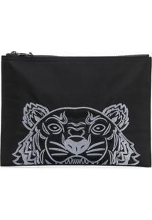 Kenzo Bolsa Clutch 'Tigre' - Preto