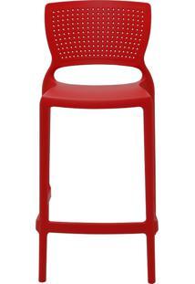 Cadeira Safira Summa Alta Polipropileno Vermelho Tramontina