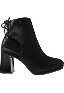 Bota Feminina Vizzano Ankle Boot Preto - 34