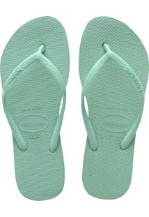 Sandálias Havaianas Slim Flatform Verde