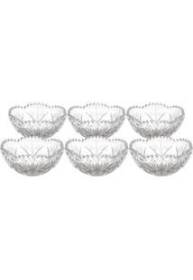 Jogo De Bowls Para Sobremesa Em Cristal Alberta- Cristallyor