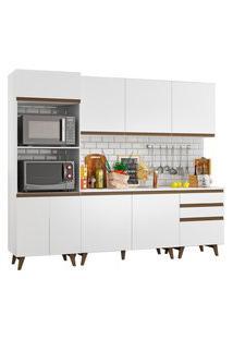 Cozinha Completa Madesa Reims Com Balcáo - 8 Portas 3 Gavetas Branco