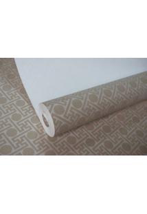 Papel De Parede Tnt Texturizado Maya Wallpaper 0,53 X 10M Bege/Marrom