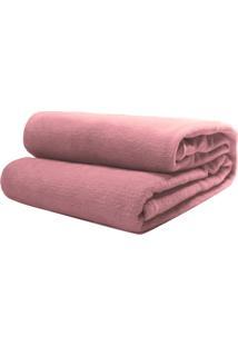 Cobertor Casal Camesa Microfibra Liso Rose