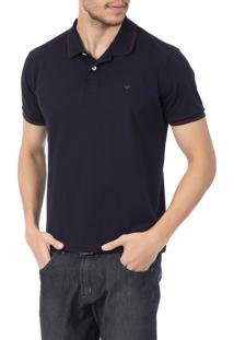 Camisa Polo Colombo Azul Marinho Lisa