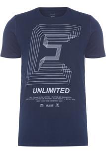 Camiseta Masculina Fine Unlimited Classic - Azul