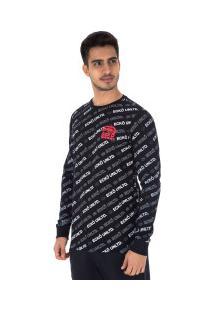 Camiseta Manga Longa Ecko Especial E536A - Masculina - Preto