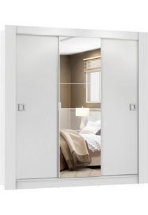 Guarda RoupaMaster Branco 3 PortasCorrer 1 Espelho Madesa