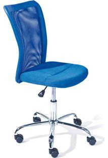 Cadeira De Escritório Secretária Giratória Bonnie Azul