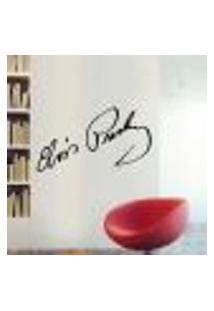Adesivo De Parede Elvis Presley Assinatura - M 20X40Cm